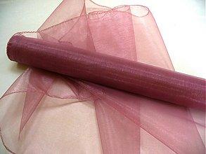 Textil - organza staroružová - 50062