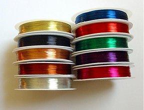 Suroviny - Medený drôt, priemer 0,3 mm -1 ks (28 m) - 503618