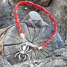Náramky - Kabbalah proti urieknutiu s pavúkom pre šťastie  - 504547
