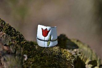 Prstene - tulipán..na bílé - 504938