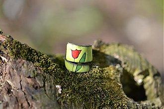 Prstene - tulipán..zelený - 504946