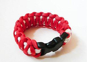 Náramky - Paracord Survival Bracelet   dvojitá kobra - 507663