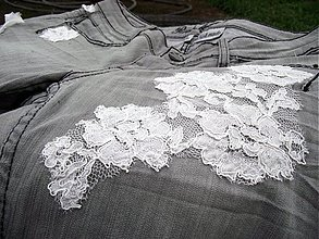 Nohavice - Vintage grey denim... - 510640