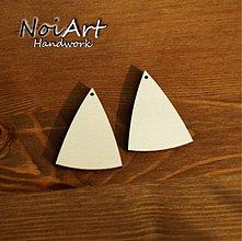 Materiál ručne robený - Základ na náušnice trojuholník 5x3,5 - 516342