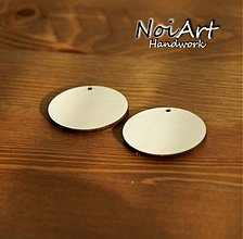Materiál ručne robený - Základ na náušnice kruh 4,5 cm - 516494