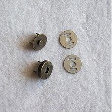Galantéria - Magnetické zapínanie 14 mm staromosadz - 517913