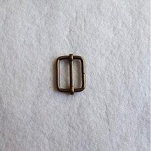 Galantéria - Prevliečna skracovacia spona 30 mm staromosadz - 517950