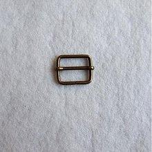 Galantéria - Prevliečna skracovacia spona 25 mm staromosadz - 517953