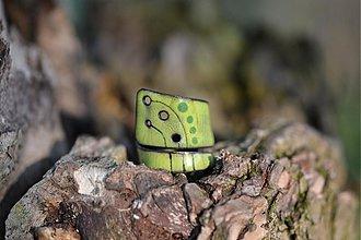 Prstene - zelený s dírkami.. - 528573