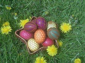 Dekorácie - Drôtené veľkonočné vajíčka - 531973