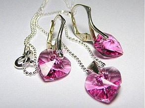 Sady šperkov - Sada Swarovski PINK - 532665