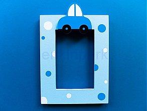 Rámiky - fotorámik v modrom - 536516