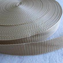 Galantéria - Popruh POP 30 mm bežový - 539609