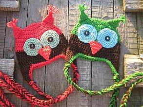 Detské čiapky - Sovičky dvojičky - 546959