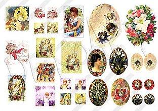 Textil - Nažehľovacie vintage motívy č.2 - 548569