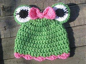 Detské čiapky - Žabia slečna - 548834