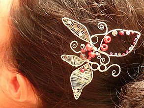Ozdoby do vlasov - Ľalia ružová - dvojička - 549806