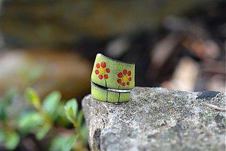 Prstene - retro kytky - 554882
