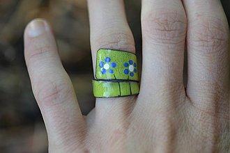 Prstene - retro kytky - 554888