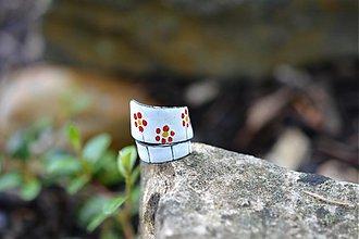 Prstene - retro kytky - 554891