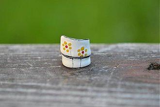 Prstene - retro kytky - 554894