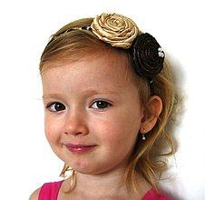 Ozdoby do vlasov - Celenka  zlato-hneda - 557714