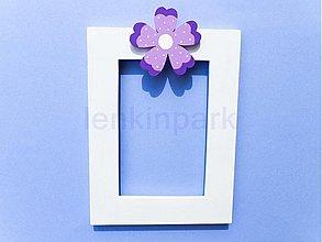 Rámiky - fotorámik s kvetinkou - 561264