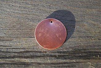 Suroviny - Medený pliešok na smaltovanie, tepanie 4 veľkosti - 565933