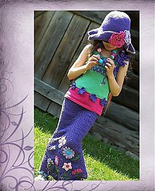 Detské súpravy - Háčkovaný klobúk a háčkovaný náhrdelník - 566354
