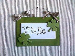 Tabuľky - Dekorácia na dvere - zelená - 567315