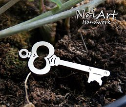 Materiál ručne robený - Základ Kľúčik - 570402