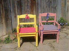 Nábytok - Žltý a ružová  - 574686