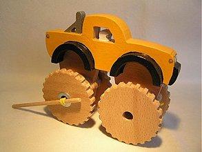 Hračky - Offroad na gumový pohon - drevená hračka - 580451