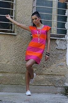 Šaty - ORANGE_PINK_cute Dress - 581006