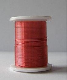 Suroviny - Bižutérny drôt 0,3mm/10m - červeno ružová - 581876