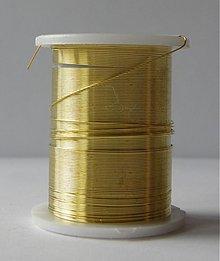 Iný materiál - Bižutérny drôt 0,3mm/10m - zlatý - 581880