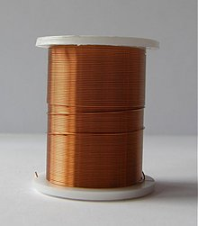 Suroviny - Bižutérny drôt 0,3mm/10m - medený tmavý - 581899