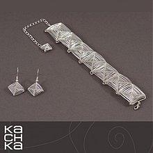 Sady šperkov - Drôtená súprava - Iba štvorce - 5853