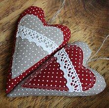 Dekorácie - On a Ona - levanduľové srdcia veľké - 586295