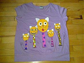 Tričká - mačacia rodinka - 587575