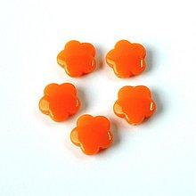 Korálky - 0530 Plastové kvietky - oranžové 15 mm, 1 ks - 595502