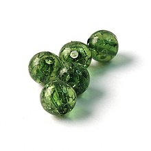 Korálky - 0548 Plastové guľky - zelené, 10 mm, 1 ks - 596289