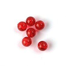 Korálky - 0557 Plastové guľky - červené, 8 mm, 10 ks - 596427