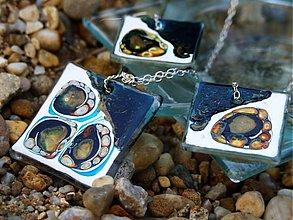 Sady šperkov - Slnečnice abstrakt - v tyrkyse a ľade - 602590
