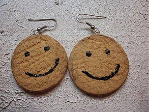 Náušnice - Usmievavé keksíky - 604062