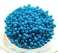 Korálky - tyrkysové perličky 4mm/ 100ks - 606669