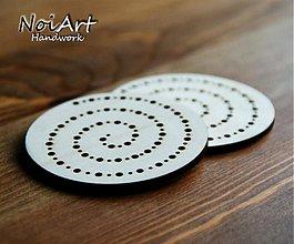 Materiál ručne robený - Veľký kruh špirála - 610221