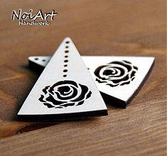 Materiál ručne robený - Trojuholník s ružou - 610262