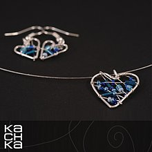 Sady šperkov - Drôtená sada - Zo srdca modré - 6128