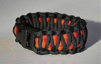 Náramky - Paracord Survival Bracelet   dvojitá kobra - 61303
